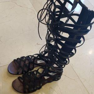 Steve Madden leather gladiator sandals,  Sz 8